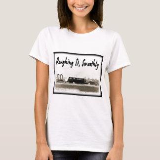 Camiseta Roughing o lisamente no reboque do vintage