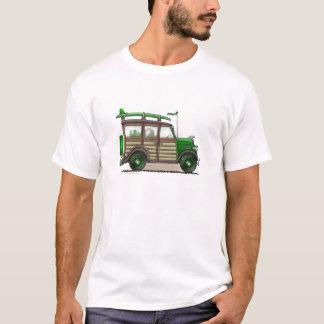 Camiseta Roupa arborizado verde do vagão