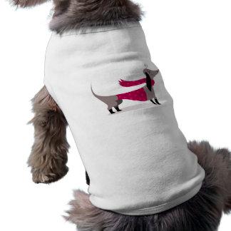 Camiseta Roupa bonito do animal de estimação do cão do Dach