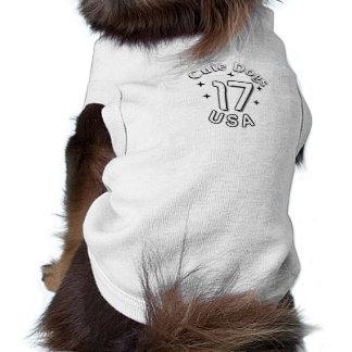 Camiseta Roupa bonito do cão dos EUA dos cães 2017