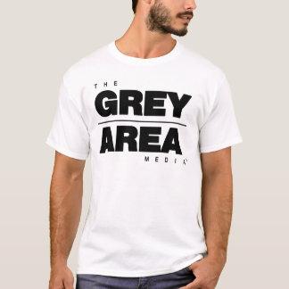 Camiseta Roupa branco preto da área cinzenta