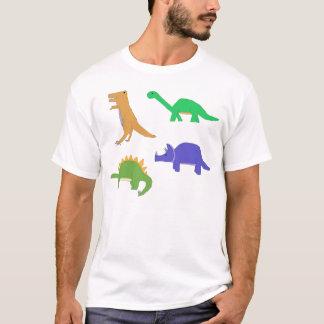 Camiseta Roupa clássico de quatro dinossauros