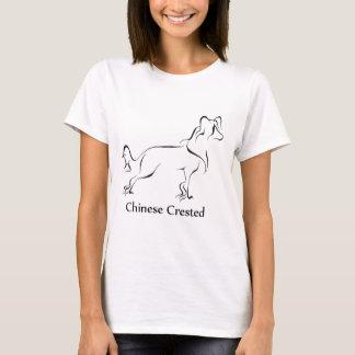 Camiseta Roupa com crista chinês