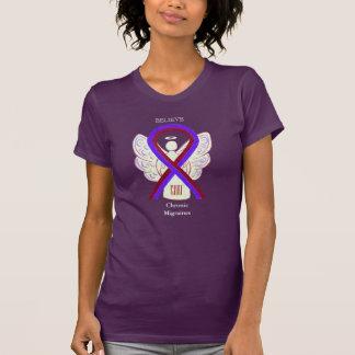 Camiseta Roupa crônica do costume da fita da consciência
