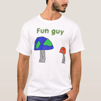 Camiseta Roupa da cara do divertimento