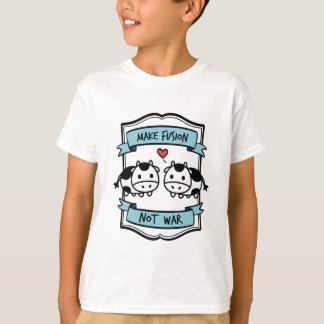 Camiseta Roupa da fusão da evolução da vaca