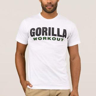 Camiseta Roupa da luz do exercício do gorila