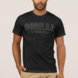 Camiseta Roupa da obscuridade do exercício do gorila