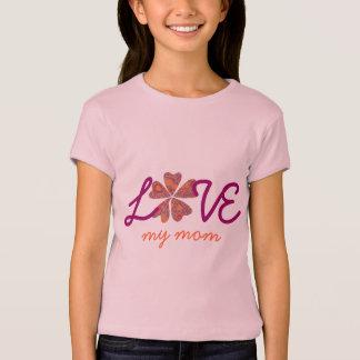 Camiseta Roupa de harmonização da mamã e da filha - coração