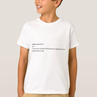 Camiseta roupa dissidente do logotipo