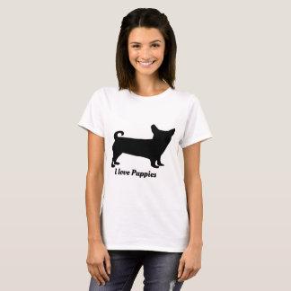 Camiseta Roupa do amor do cão de estimação