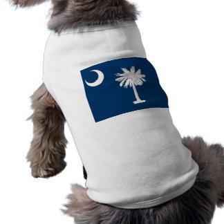 Camiseta Roupa do animal de estimação com a bandeira de