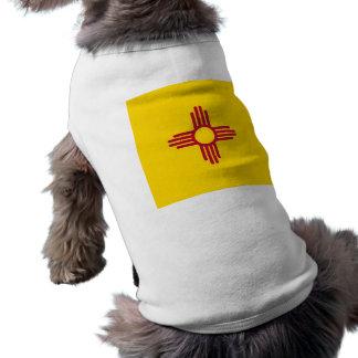 Camiseta Roupa do animal de estimação com a bandeira de New