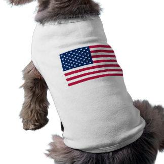 Camiseta Roupa do animal de estimação com a bandeira dos
