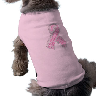 Camiseta Roupa do animal de estimação da fita do diamante