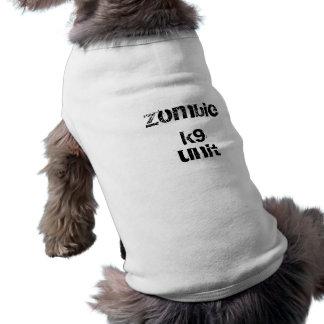 Camiseta roupa do animal de estimação da unidade do zombi k