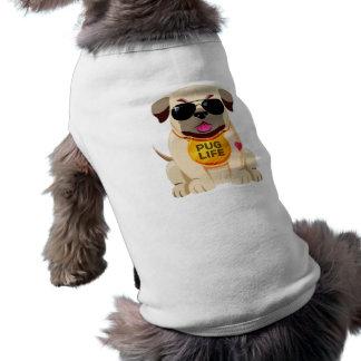 Camiseta Roupa do animal de estimação da vida do Pug