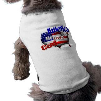 Camiseta Roupa do animal de estimação de América dos deus a