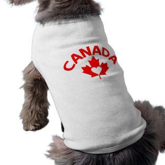 Camiseta Roupa do animal de estimação de Canadá