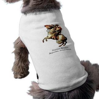 Camiseta Roupa do animal de estimação de Napoleon Bonaparte