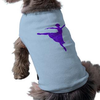 Camiseta Roupa do animal de estimação do dançarino de balé