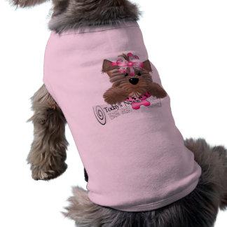 Camiseta Roupa do animal de estimação do estilo de Yorkie