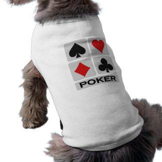 Camiseta Roupa do animal de estimação do póquer