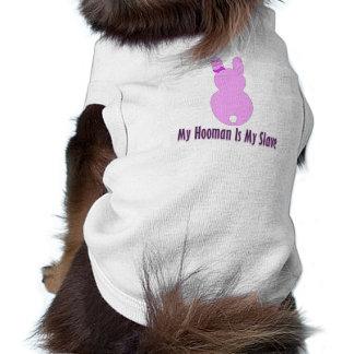 Camiseta Roupa do animal de estimação - meu Hooman é meu