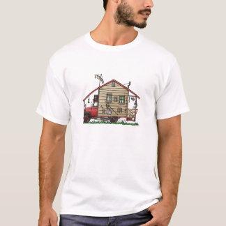 Camiseta Roupa do campista do Hillbilly do campónio