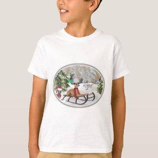 Camiseta Roupa do jogo da neve do galgo italiano
