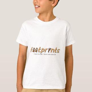 Camiseta Roupa do logotipo das pegadas