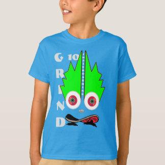 Camiseta roupa do skate da moagem