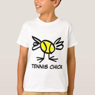 Camiseta Roupa do tênis para o t-shirt do pintinho do tênis