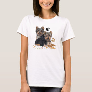 Camiseta Roupa dobro do problema do yorkshire terrier