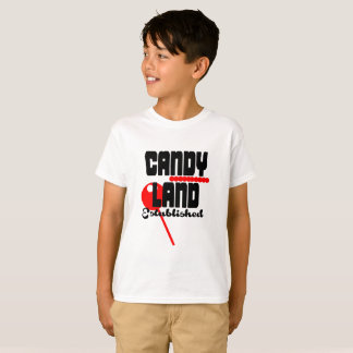 Camiseta Roupa estabelecida terra dos doces