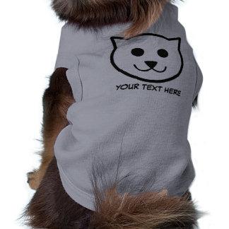 Camiseta Roupa feita sob encomenda do animal de estimação d