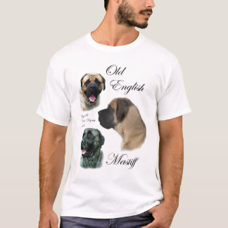 Camiseta Roupa inglês velho dos presentes do Mastiff