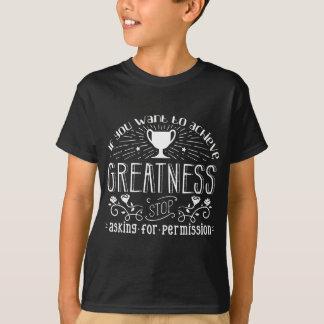 Camiseta Roupa inspirador da grandeza