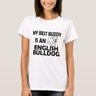 Camiseta roupa ocasional do melhor buldogue inglês do amigo