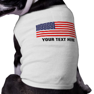 Camiseta Roupa patriótica feita sob encomenda do cão de