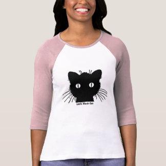 Camiseta Roupa pequeno do gato preto