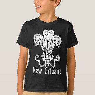 Camiseta Roupa real da flor de lis