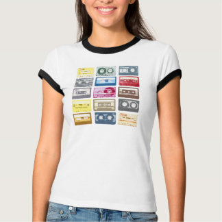 Camiseta Roupa retro do impressão de Mixtapes