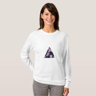 Camiseta Roxo da camisola da ligação em ponte do impressão