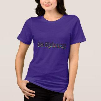 Camiseta Roxo da tipografia do arco-íris do cumprimento de