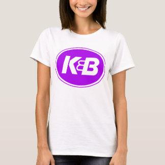 Camiseta Roxo das senhoras K&B no ouro
