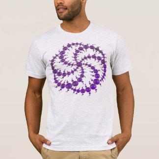 Camiseta Roxo do círculo da colheita