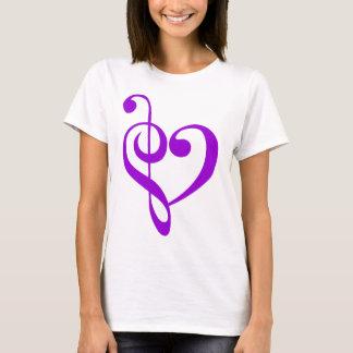 Camiseta Roxo do coração da música