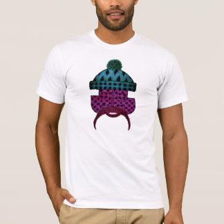 Camiseta Roxo do gajo da xadrez da madeira serrada