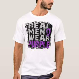 Camiseta Roxo real do desgaste de homens do lúpus